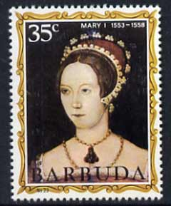 Barbuda 1970-71 English Monarchs SG 64 Mary I unmounted mint*