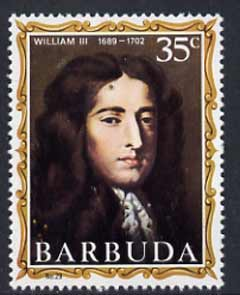 Barbuda 1970-71 English Monarchs SG 70 William III unmounted mint*
