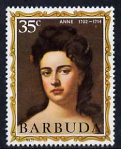 Barbuda 1970-71 English Monarchs SG 72 Anne unmounted mint*