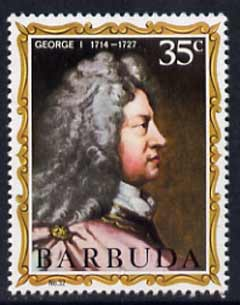 Barbuda 1970-71 English Monarchs SG 73 George I unmounted mint*