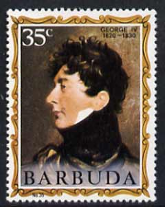 Barbuda 1970-71 English Monarchs SG 76 George IV unmounted mint