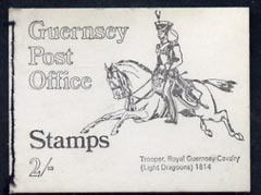 Booklet - Guernsey 1969 2s Booklet (Royal Guernsey Light Dragoons) complete and pristine, SG SB1