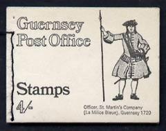 Booklet - Guernsey 1969 4s Booklet (Officer St Martins Coy) complete and pristine, SG SB2