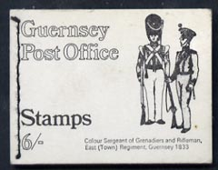 Booklet - Guernsey 1969 6s Booklet (Grenadiers & East Regt) complete and pristine, SG SB3
