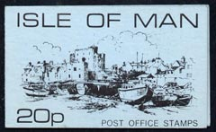 Booklet - Isle of Man 1976-79 Castletown Harbour 20p Sachet Booklet (blue cover) complete