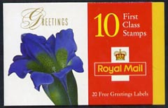 Booklet - Great Britain 1997 Greeting Stamps (Flower Paintings) \A32.60 booklet complete and pristine SG KX9