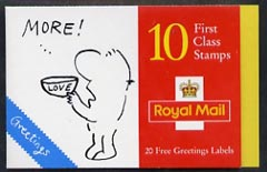 Booklet - Great Britain 1996 Greeting Stamps (Cartoons) \A32.50 booklet complete and pristine SG KX8