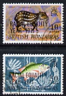 British Honduras 1971 Racial Equality Year opt set of 2 fine cds used SG 313-14