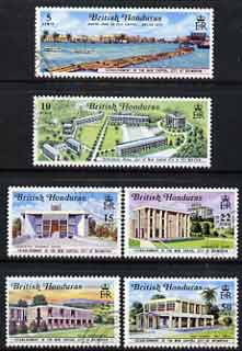 British Honduras 1971 New Capital perf set of 6 fine cds used SG 301-306
