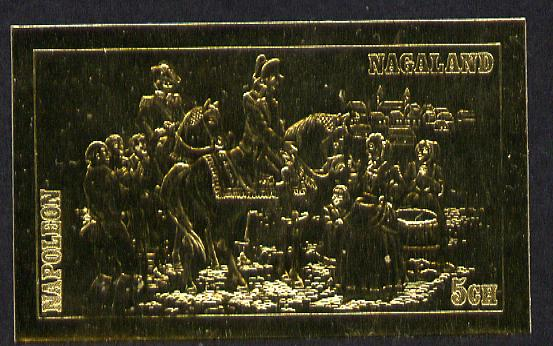 Nagaland 19?? Napoleon on Horseback 5ch value embossed in gold (imperf) unmounted mint