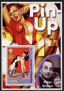 Benin 2003 Pin-Up Art of Peter Driben perf m/sheet unmounted mint