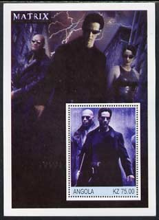 Angola 2002 History of the Cinema #01 (Matrix) perf m/sheet unmounted mint