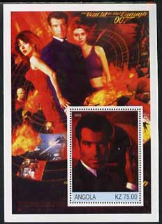 Angola 2002 History of the Cinema #04 (James Bond - The World Is Not Enough) perf m/sheet unmounted mint