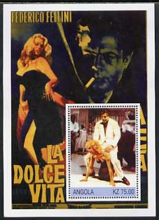 Angola 2002 History of the Cinema #06 (Fellini's La Dolce Vita) perf m/sheet unmounted mint