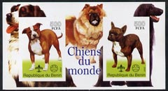 Benin 2002 World of Dogs imperf m/sheet containing 2 values each with Scout Logo, unmounted mint