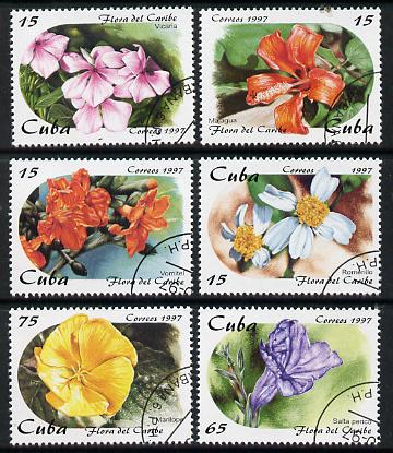 Cuba 1997 Flowers complete perf set of 6 values cto used*