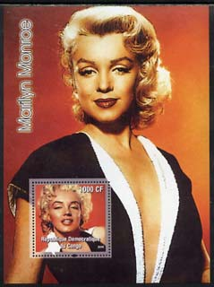 Congo 2005 Marilyn Monroe perf s/sheet #01 unmounted mint