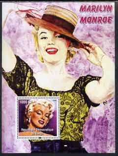 Congo 2005 Marilyn Monroe perf s/sheet #02 unmounted mint