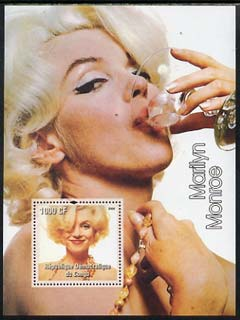 Congo 2005 Marilyn Monroe perf s/sheet #03 unmounted mint