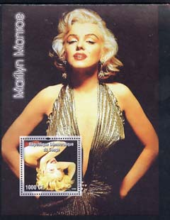 Congo 2005 Marilyn Monroe perf s/sheet #04 unmounted mint