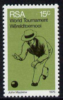 South Africa 1976 Bowls Tournament from Sporting Commemoration set unmounted mint, SG 393*