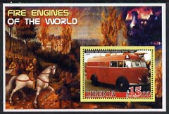Liberia 2005 Fire Engines of the World #02 perf s/sheet unmounted mint
