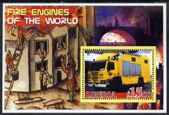 Liberia 2005 Fire Engines of the World #03 perf s/sheet unmounted mint