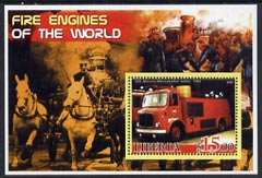 Liberia 2005 Fire Engines of the World #04 perf s/sheet unmounted mint