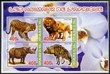 Mali 2005 Fauna of Africa perf sheetlet containing set of 4 values unmounted mint