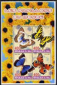Mali 2005 Butterflies perf sheetlet containing set of 4 values unmounted mint