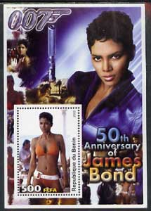 Benin 2003 50th Anniversary of James Bond #02 perf s/sheet unmounted mint