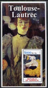 Somalia 2002 Toulouse-Lautrec Paintings perf s/sheet unmounted mint