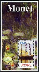 Somalia 2002 Monet Paintings perf s/sheet unmounted mint
