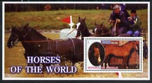 Somalia 2002 Horses of the World perf m/sheet #2 unmounted mint
