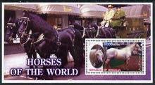 Somalia 2002 Horses of the World perf m/sheet #4 unmounted mint