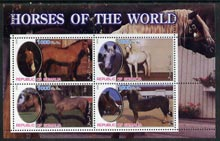Somalia 2002 Horses of the World perf sheetlet #2 containing 4 values, unmounted mint