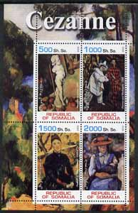 Somalia 2002 Cezanne Paintings perf sheetlet containing 4 values, unmounted mint