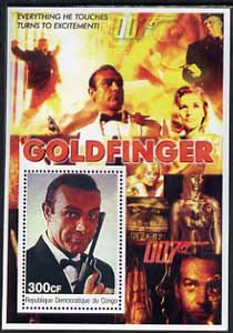Congo 2003 James Bond Movies #03 - Goldfinger perf s/sheet unmounted mint