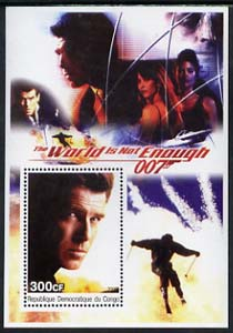 Congo 2003 James Bond Movies #19 - The World Is Not Enough perf s/sheet unmounted mint