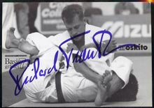 Postcard of Richard Trautmann, German Judo star and Olympic Bronze Medallist in 1992 & 1996, B & W card signed by Trautmann