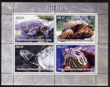 Congo 2005 Turtles perf sheetlet containing 4 values fine cto used