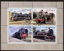 Somalia 2005 Steam Trains perf sheetlet containing 4 values fine cto used