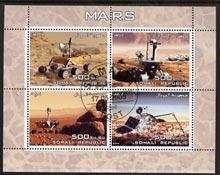 Somalia 2005 Mars perf sheetlet containing 4 values fine cto used