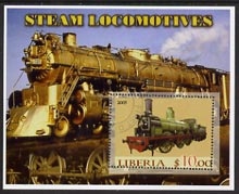 Liberia 2005 Steam Locomotives #01 perf m/sheet fine cto used