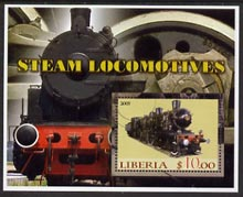 Liberia 2005 Steam Locomotives #03 perf m/sheet fine cto used