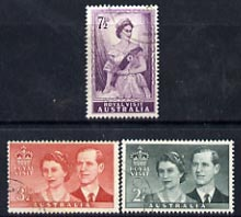 Australia 1954 Royal Visit perf set of 3 fine cto used, SG 272-74