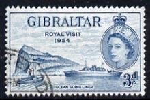 Gibraltar 1954 Royal Visit (Liner Saturnia) fine cds used SG 159