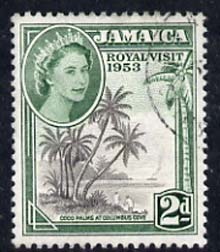 Jamaica 1953 Royal Visit 2d fine cds used SG 154