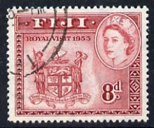 Fiji 1953 Royal Visit 8d Arms cds used, SG 279