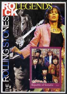 Somalia 2002 Rock Legends - Rolling Stones perf s/sheet unmounted mint